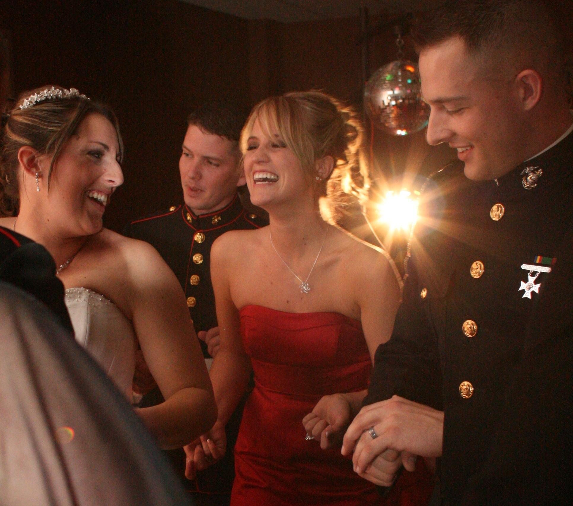 Military Wedding Reception Dancing